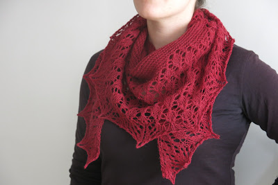 red lace shawl knitting pattern