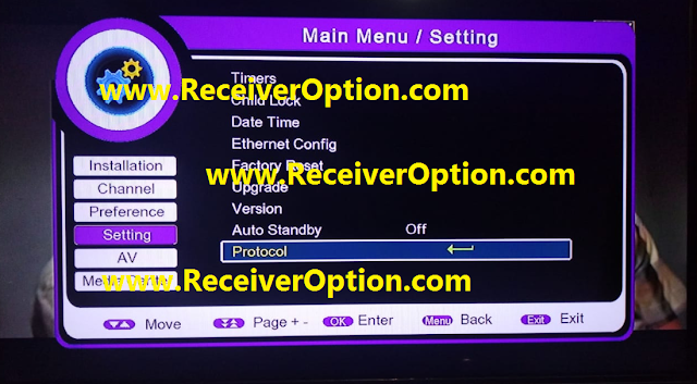 PROTOCOL 1506F 8MB TYPE HD RECEIVER ALL SAT AUTO ROLL POWERVU KEY NEW SOFTWARE