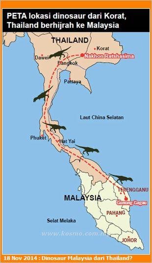 Dinosaur Malaysia Berasal dari Siam