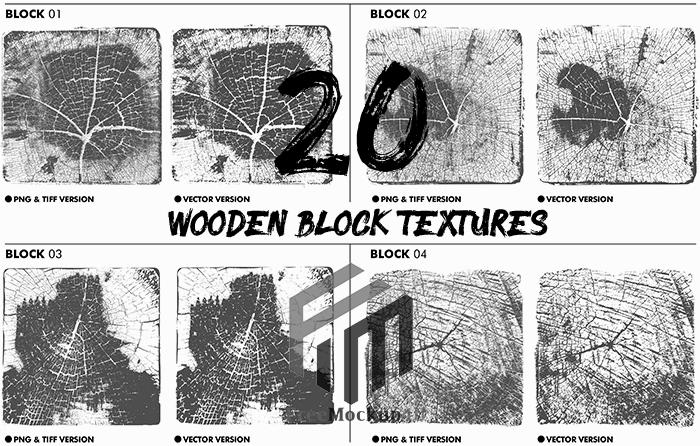 Wooden Block Textures Bundle Pack PNG TIF AND VECTOR FORMAT