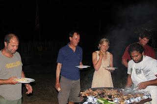 Fish BBQ at De SIlva