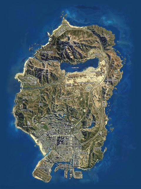Grand Theft Auto V (GTA 5) Haritası
