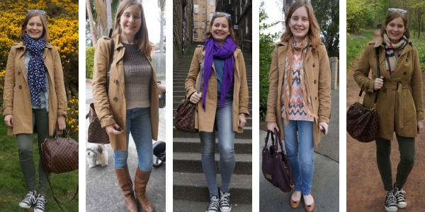 ways to wear camel trench coat and jeans  | awayfromtheblue
