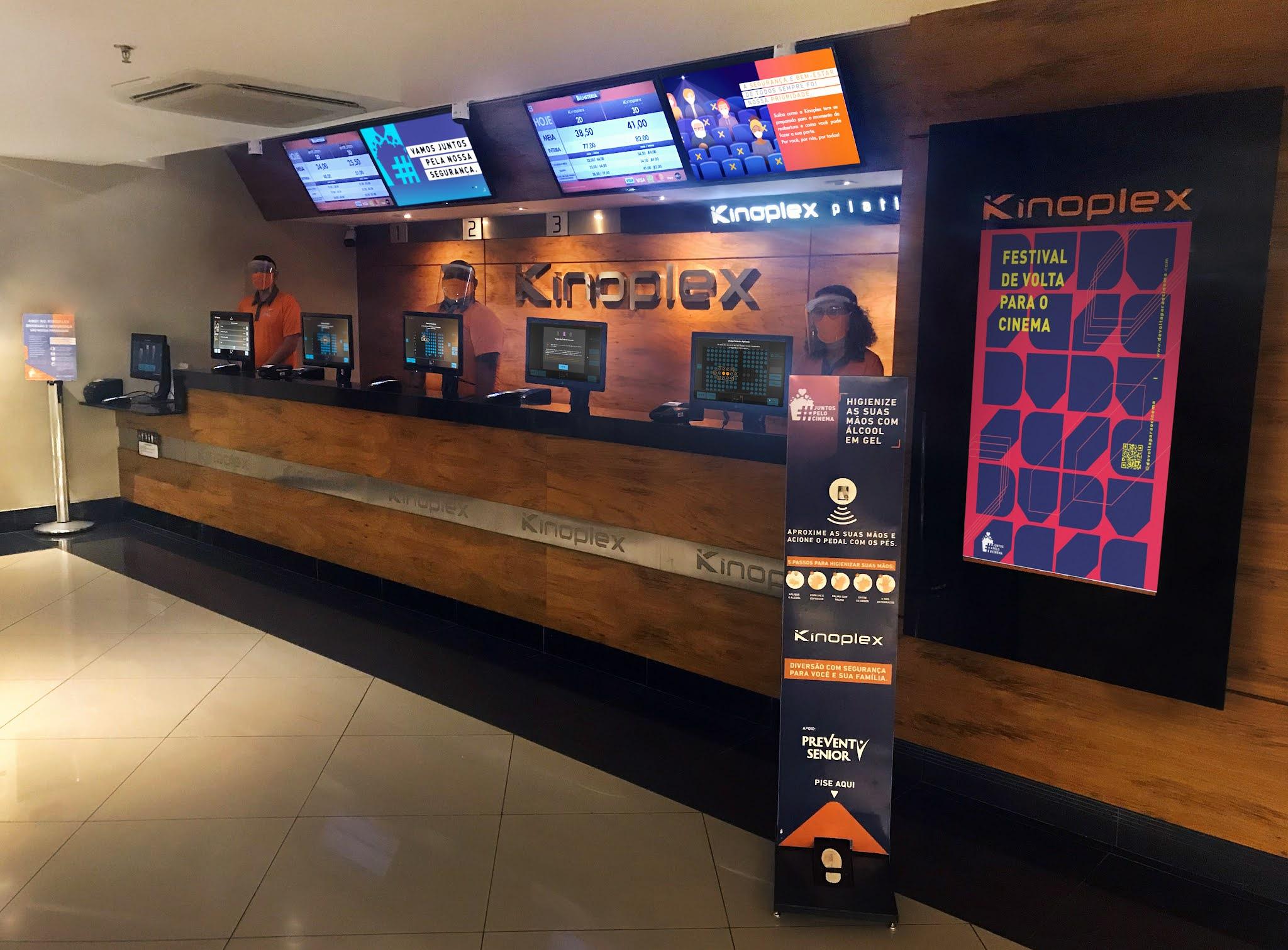 Kinoplex reabre todos os seus cinemas no Brasil pela primeira vez desde março de 2020
