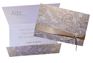 wedding invitations with lace pattern