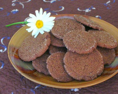 Molasses Cookies ♥ KitchenParade.com, old-fashioned cookies, soft, chewy or crisp, your choice.