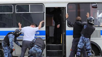 В Москве уже задержаны сотни участников акции протеста