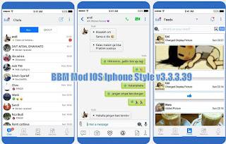 BBM Mod New Iphone Style 3.3.3.39 (iBBM)