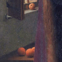 Oranges in Jan van Eyck's Arnolfini Portrait, shows their whealth and symbolism element for forbidden fruits for the artist