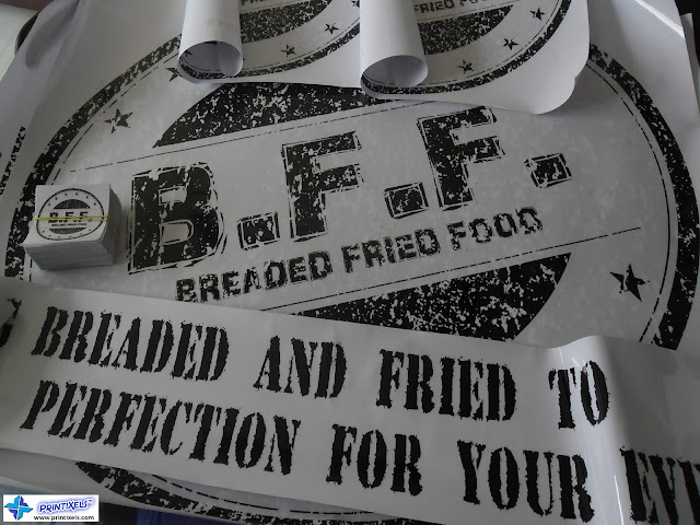 Breaded Fried Food - Restaurant Stickers