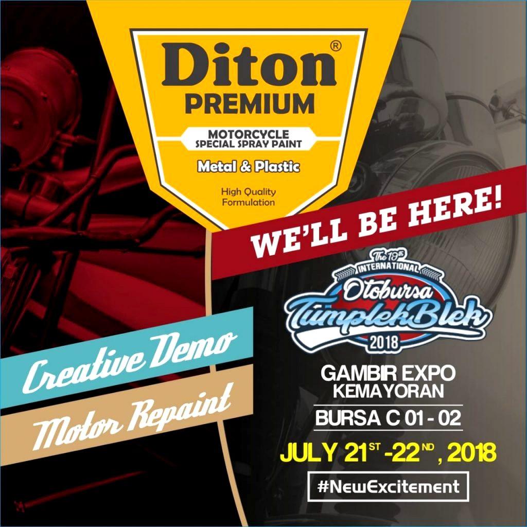 Diton Premium akan launching 30 warna baru di Otobursa Tumplek Blek 2018