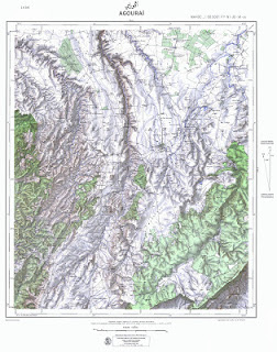 Agouray Morocco 50000 (50k) Topographic map free download