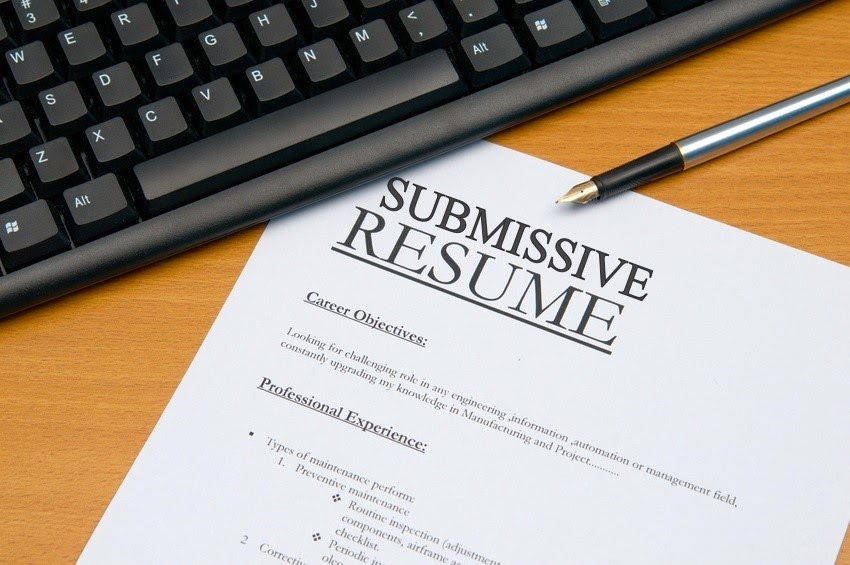 submissive/slave Resume