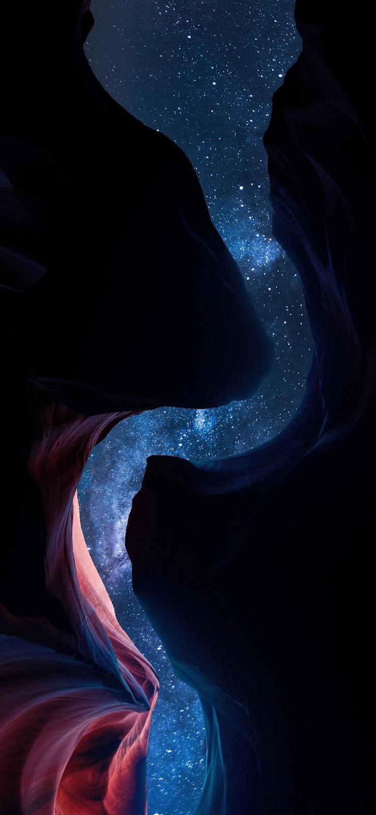 Under the starry night
