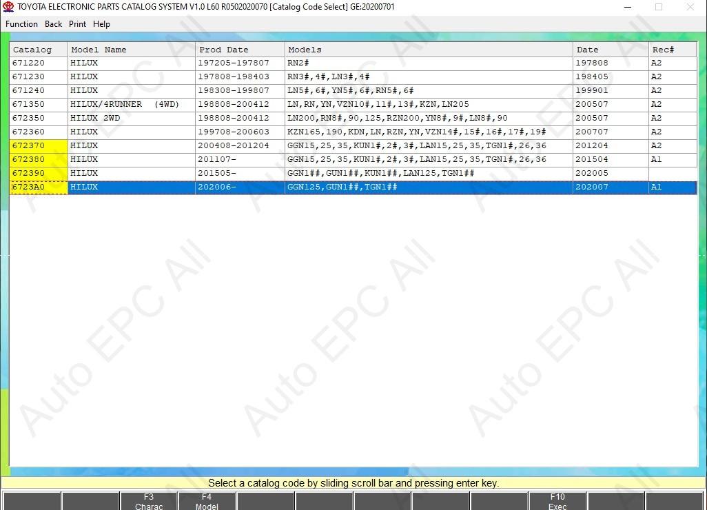 Toyota epc online parts catalog