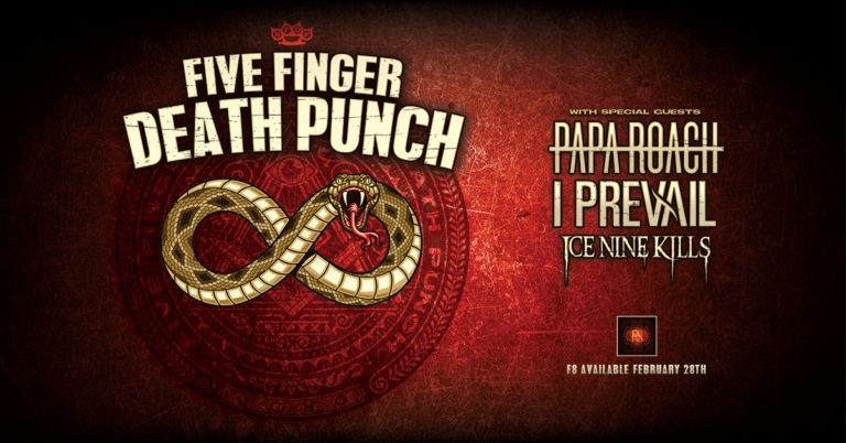 Five Finger Death Punch Announce Massive Spring 2020 U.S. Arena Tour With Special Guests Papa Roach, I Prevail And Support From Ice Nine Kills