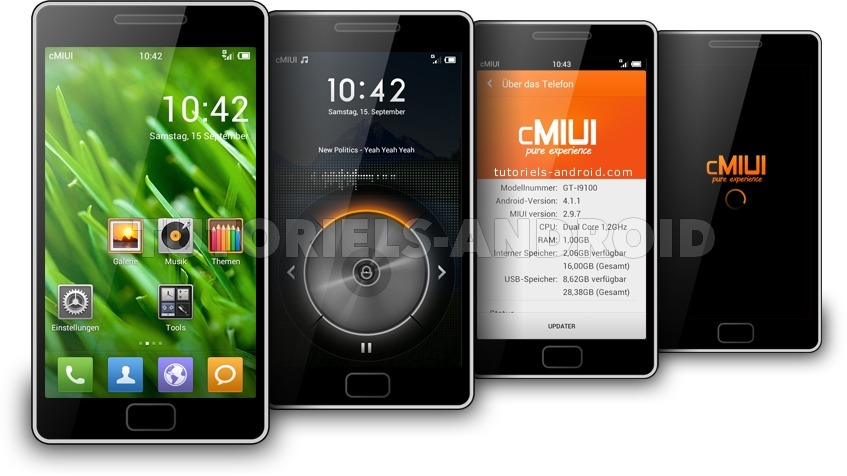 Captures : CMIUI pour GALAXY S2