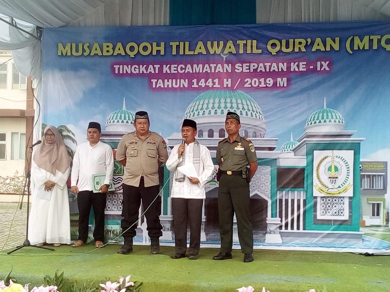 "MTQ Ke IX Kecamatan Sepatan, ""Tercapainya Masyarakat Yang Religius, Berkarakter Qur'ani"""