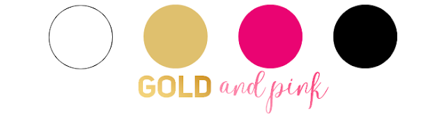 Paleta de cores - gold and pink - Blog Rocky