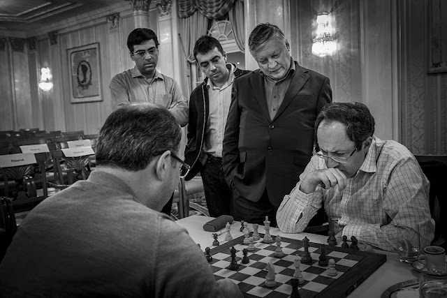 Skvortsov, Gelfand, Karpov y Anand en el Zurich Chess Challenge 2016