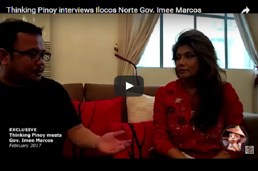 Thinking Pinoy interviews Ilocos Norte Gov. Imee Marcos..MUST WATCH!!