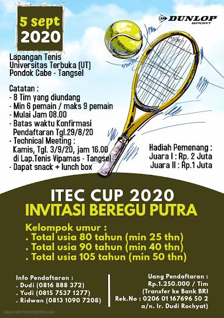ITEC CUP 2020  INVITASI TENIS BEREGU PUTRA