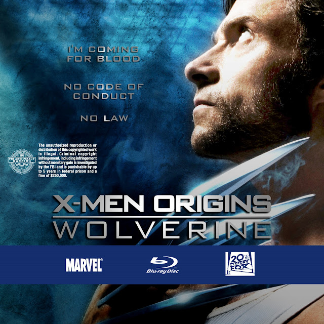 X-Men Origins Wolverine Bluray Label