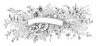 banner digital vintage floral design illustration clipart