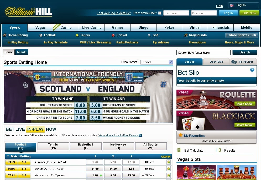 William Hill Screen