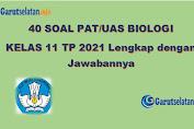 Soal PAT / UAS Biologi Kelas 11 Tahun 2021 (Lengkap dengan Jawabannya)