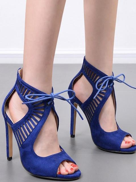 Purple Lace Shoes
