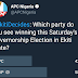 Ekiti 2018: APC Loosing A Poll On Her Own Twitter Handle