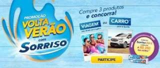 Cadastrar Promoção Produtos Sorriso Volta Verão Automóvel 0KM, Viagem e 350 Reais