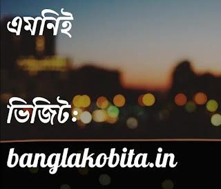 বাংলা কবিতা এমনি