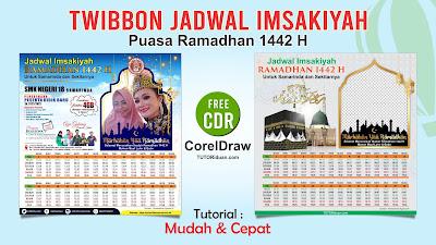 Desain Twibbon Jadwal Imsakiyah 1442 H