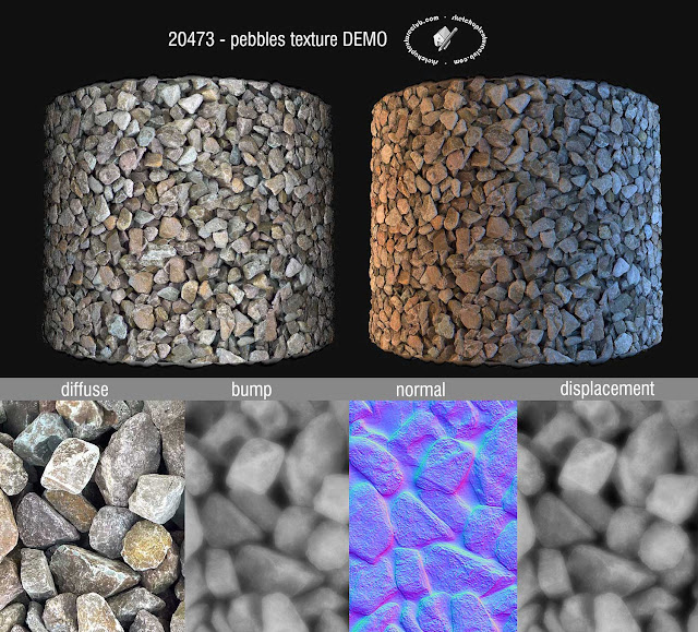 SKETCHUP TEXTURE: New royalty free textures seamless gravel, pebbles