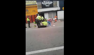 Policías sorprendidos en estado de embriaguez en las calles de Tunja