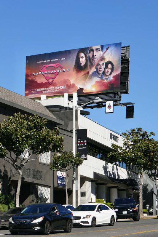 Superman & Lois CW series billboard