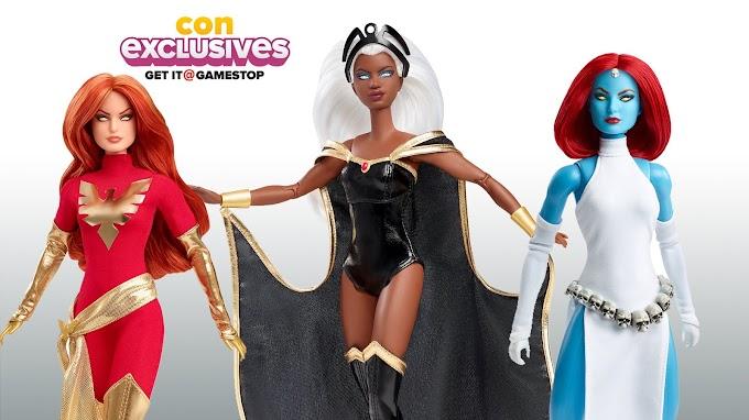 Barbie saca al mercado una edición de coleccionista de las Xmen con Jean Grey, Mística y Tormenta.