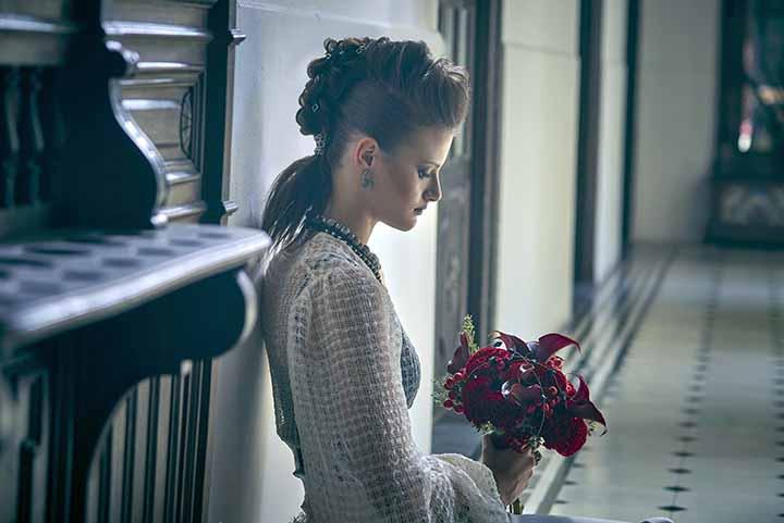 peinado de novia recogido trenzas 2020