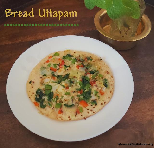 images of Bread Uttapam Recipe / Instant Bread Dosa Recipe / Easy Bread Uttapam