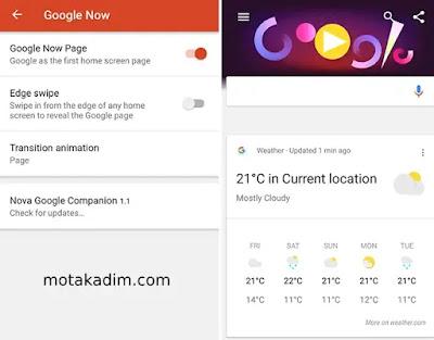 الحصول على بطاقات Google Now على الأجهزة غير المدعومة