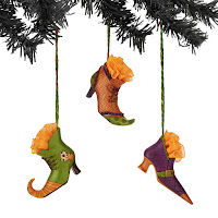 Department 56 Witch Shoe Ornaments