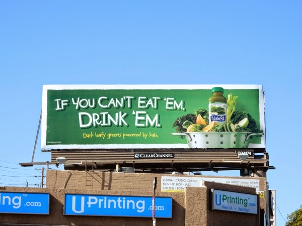 cant eat em drink em Naked Juice billboard