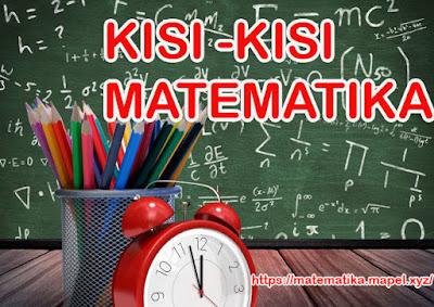 kisi-kisi matematika