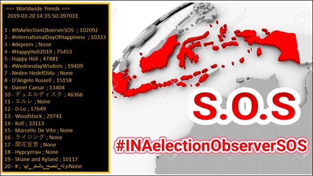 Tagar #INAelectionObserverSOS Trending Topic Dunia, Polisi Dituding Tidak Netral di Pilpres