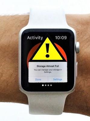 حل مشكلة امتلاء التخزين على ساعة ابل Apple Watch