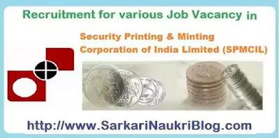 SPMCIL Job Vacancy Recruitment