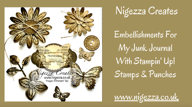Nigezza Creates Embellishments For My Junk Journal With Stampin' Up! Stamps & Punches