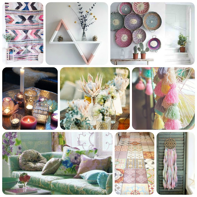 Springtime Bohemian Home Decor {Pastel Bohemian, Springtime Boho Home  Decorations, Bohemian Easter}